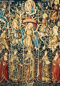 Franciscan Tree: Flemish piece of tapestry (1479)